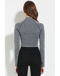 Forever 21 - Gray Marled Crop Top - Lyst