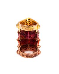 Vivienne Westwood | Red 'regent' Armour Ring | Lyst
