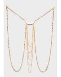 Bebe - Metallic Half Moon Body Jewelry - Lyst