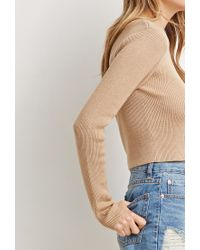 Forever 21 | Brown Classic Cropped Sweater | Lyst