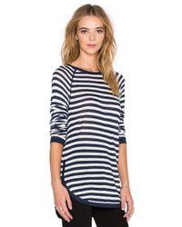 Splendid | Blue Easel Contrast Stripe Top | Lyst