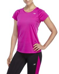 New Balance | Purple Accelerate Performance Tee | Lyst
