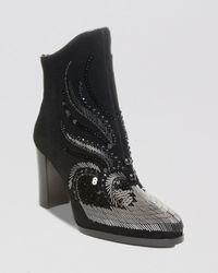 Donald J Pliner - Black Booties - Quiva Embellished High Heel - Lyst