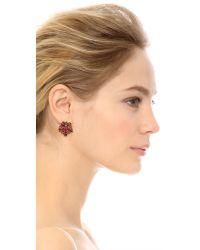 Oscar de la Renta - Red Crystal Star Earrings - Persimmon - Lyst