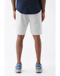 Forever 21 Gray Speckled Zip-pocket Sweatshorts for men