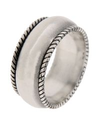 First People First | Metallic Ring for Men | Lyst