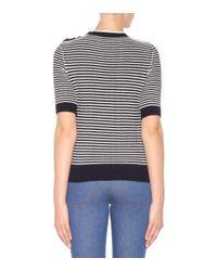 Nina Ricci Black Striped Cotton Sweater