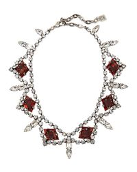 DANNIJO | Brown Devi Crystal Statement Necklace | Lyst