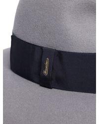 b83eee657a7 Lyst - Borsalino Rabbit Fur Felt Wide Brim Hat in Gray