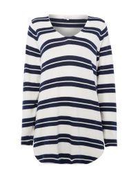Part Two Blue Easy Shape V Neck Pullover