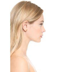 Fallon Metallic Double Microspike Earrings - Gold