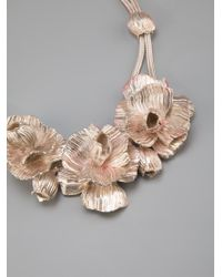 Lara Bohinc | White Roses In Bloom Necklace | Lyst