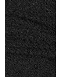 Versus - Black Cutout Stretch-Knit Mini Dress - Lyst