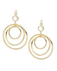 R.j. Graziano | Metallic Triple Hoop Drop Earrings | Lyst