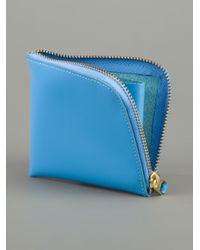 Comme des Garçons Blue 'Arecalf' Wallet for men
