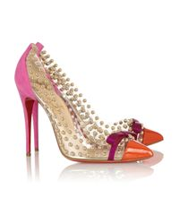 Christian Louboutin Bille Et Boule 100 Studded Pvc And