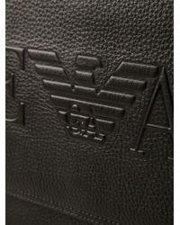 Emporio Armani Black Messenger Bag for men