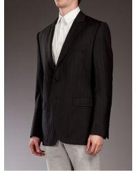 Dolce & Gabbana Black Pinstripe Blazer for men