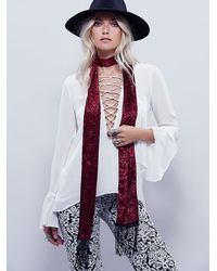 Free People | Purple Womens Adelaide Velvet Skinny Scarf | Lyst