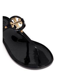 Tory Burch Black 'mini Miller' Jelly Thong Sandals