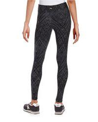 Marc New York Gray Patterned Knit Leggings