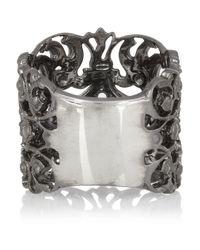 Iam By Ileana Makri Metallic Duchess Oxidized Silver Ring