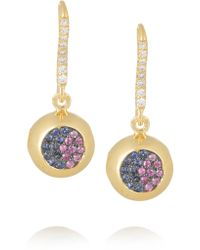 Aurelie Bidermann | Blue 18-karat Gold, Sapphire And Diamond Bell Earrings | Lyst