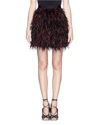 Alice + Olivia Multicolor 'cina' Feather Skirt