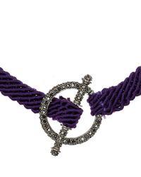 Ruby Kovo Purple Black Diamond Toggle Bracelet