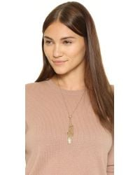 Rebecca Minkoff | Metallic Caged Stud Tassel Necklace | Lyst