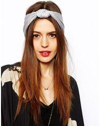 ASOS Gray Knot Turban Headband