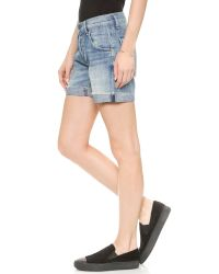 Citizens of Humanity Blue Skyler Boyfriend Shorts - Sebring