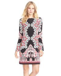 Eci - Black Mirror Print Jersey Shift Dress - Lyst