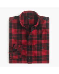 J.Crew | Black Slim Brushed Twill Shirt In Douglas Plaid for Men | Lyst