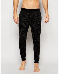 ASOS - Black Loungewear Skinny Joggers In Inject Slub Fabric for Men - Lyst