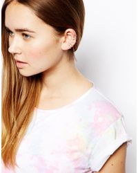 ASOS - Multicolor Pack Of 6 Crystal Ear Cuffs - Lyst