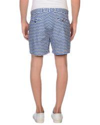 MSGM - Blue Bermuda Shorts for Men - Lyst