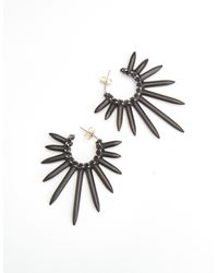Nicole Miller | Gray Spiky Earrings | Lyst