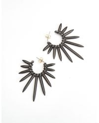 Nicole Miller - Gray Spiky Earrings - Lyst