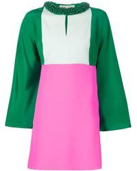 Emilio Pucci Pink Beaded Silk Dress
