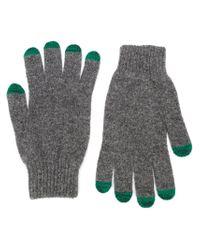 Paul Smith - Gray Knitted Gloves for Men - Lyst