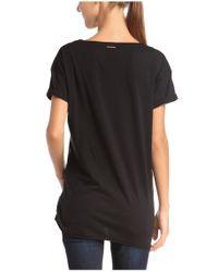 BOSS Orange - Black T-shirt: 'talmy' In Cotton - Lyst