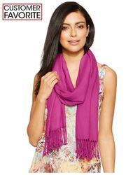 INC International Concepts | Pink Satin Pashmina Wrap | Lyst
