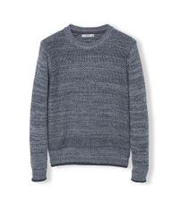 Mango Gray Texas Mixed Knit Sweater for men