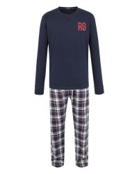 Racing Green | Blue Frank Check Loungewear Set for Men | Lyst