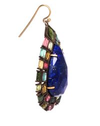 Nak Armstrong - Blue Green And Pink Tourmaline And Lapis Drop Earrings - Lyst