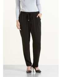 Violeta by Mango | Black Drawstring Baggy Trousers | Lyst
