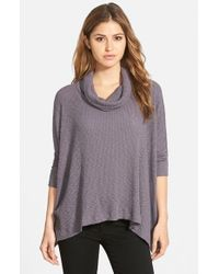 Free People - Gray 'world Traveler' Cowl Neck Pullover - Lyst