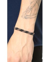 Caputo & Co. - Black Hand Knotted Rugby Bracelet for Men - Lyst