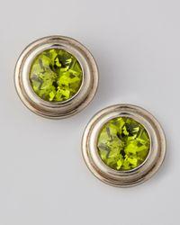 John Hardy - Green Round Peridot Stud Earrings - Lyst